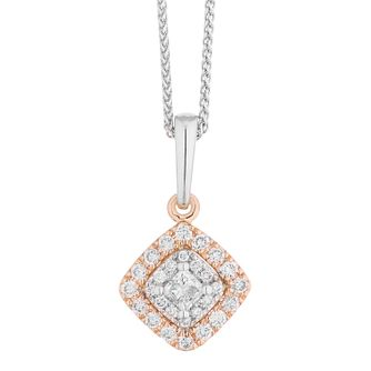 Vera Wang 18ct Rose Gold 0.23ct Diamond Halo Pendant - Product number 4725417