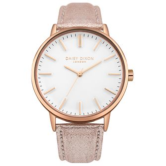 Daisy Dixon Ladies' Rose Gold Strap Watch - Product number 4728114