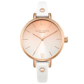 Daisy Dixon Ladies' White Leather Strap Watch - Product number 4728181
