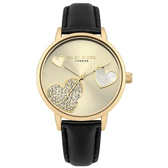 Daisy Dixon Hollie Ladies' Black Strap Watch - Product number 4729110