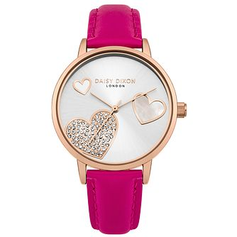 Daisy Dixon Hollie Ladies' Pink Strap Watch - Product number 4729137