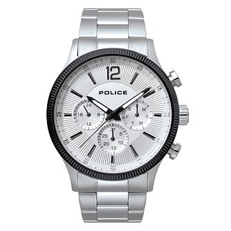 Police Men's White Dial Stainless Steel Bracelet Watch - Product number 4729382