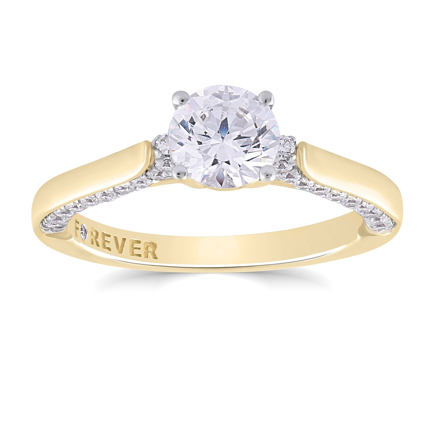 The Forever Diamond 18ct Yellow Gold 1ct Total Ring - Product number 4729595