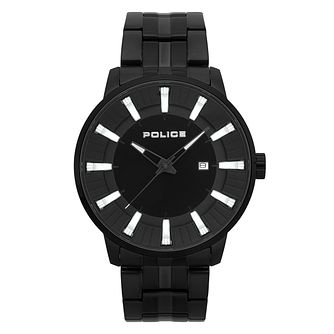 Police Men's Black Plated Stainless Steel Bracelet Watch - Product number 4729625