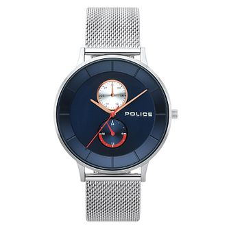 Police Men's Stainless Steel Mesh Strap Watch - Product number 4729889