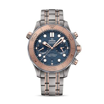 Omega Seamaster Diver Men's Two Tone Bracelet Watch - Product number 4730194