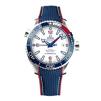 Omega Seamaster America's Cup Men's Blue Rubber Strap Watch - Product number 4730208