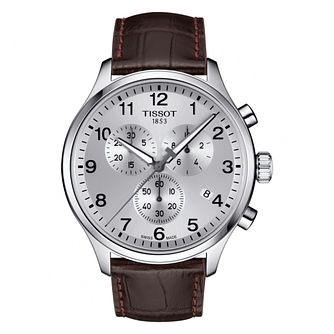 Tissot Chrono XL Men's Brown Strap Watch - Product number 4730356