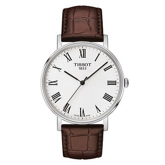 Tissot Everytime Men's Stainless Steel Brown Leather Watch - Product number 4730518