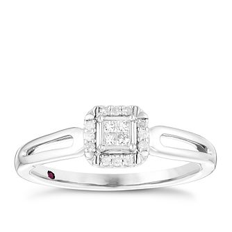 Cherished Argentium Silver Diamond Cluster Ring - Product number 4730720