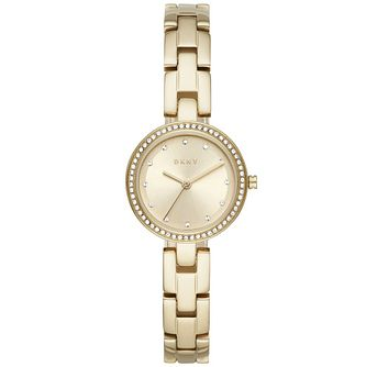 Dkny City Link Crystal Ladies' Gold Tone Bracelet Watch - Product number 4731395