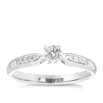 The Forever Diamond Palladium 0.25ct Total Diamond Ring - Product number 4733401