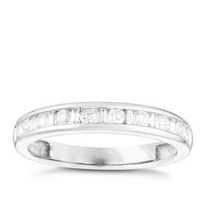 9ct White Gold 1/3 Carat Diamond Channel Set Eternity Ring - Product number 4737687