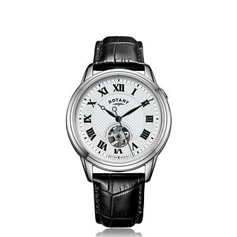 Rotary Cambridge Men's Black Leather Strap Watch - Product number 4741129