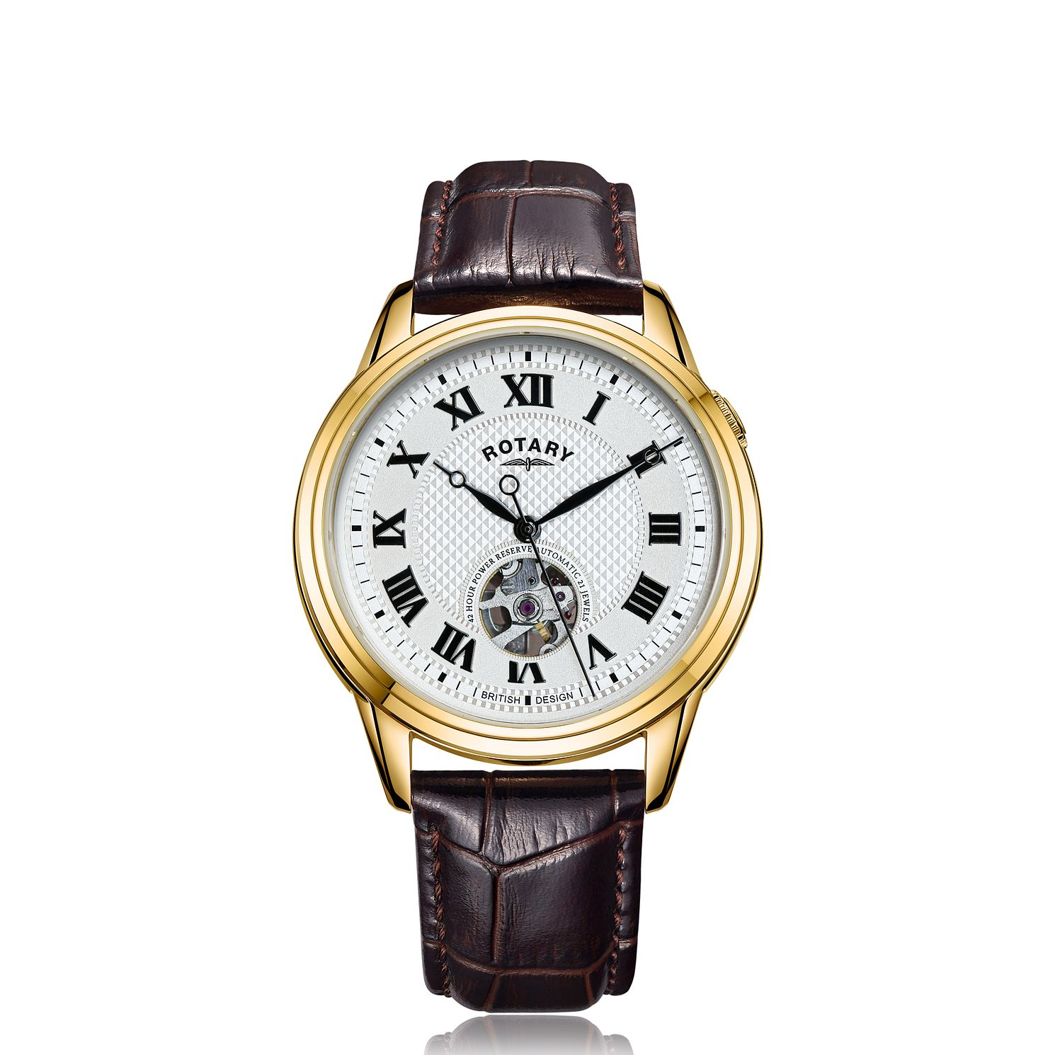 Rotary Cambridge Men's Brown Leather Strap Watch - Product number 4742117