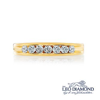 Leo Diamond 18ct Yellow Gold 1/2ct I-Si2 Eternity Ring - Product number 4743784