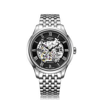 Rotary Greenwich Men's Stainless Steel Bracelet Watch - Product number 4744713