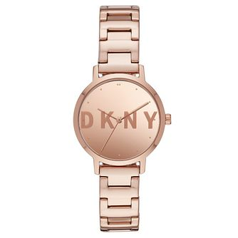 Dkny The Modernist Ladies' Rose Gold Tone Bracelet Watch - Product number 4751841