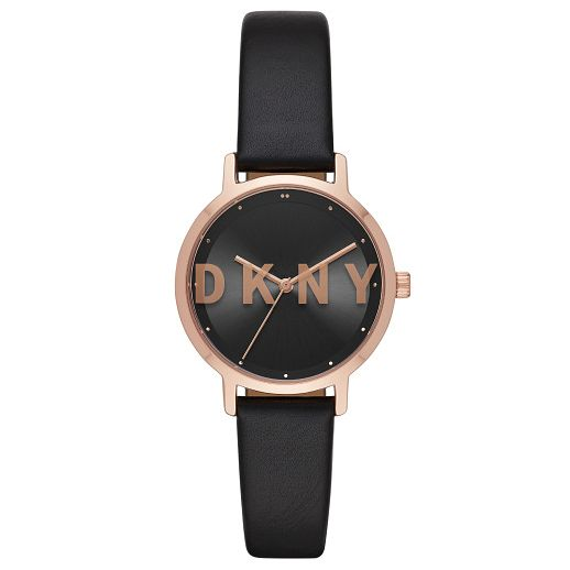 DKNY The Modernist Ladies' Black Leather Strap Watch - Product number 4751876
