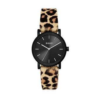 DKNY Soho Ladies' Leopard Print Leather Strap Watch - Product number 4751884