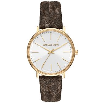 Michael Kors Pyper Ladies' Brown Patterned Strap Watch - Product number 4751906