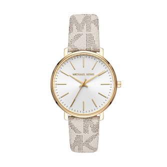 Michael Kors Pyper Ladies' Cream Patterned Strap Watch - Product number 4751914