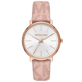 Michael Kors Pyper Ladies' Pink Patterned Strap Watch - Product number 4751922