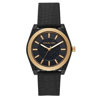Michael Kors Channing Ladies' Black Silicone Strap Watch - Product number 4752368
