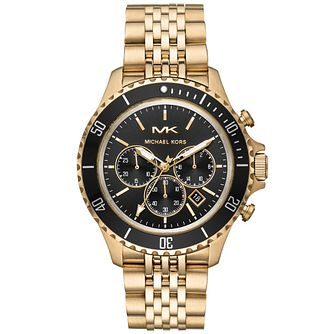 Michael Kors Bayville Men's Gold Tone Bracelet Watch - Product number 4752406