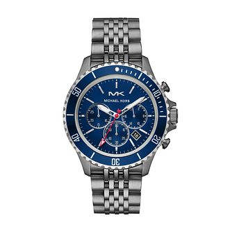 Michael Kors Bayville Men's Chronograph IP Bracelet Watch - Product number 4752589