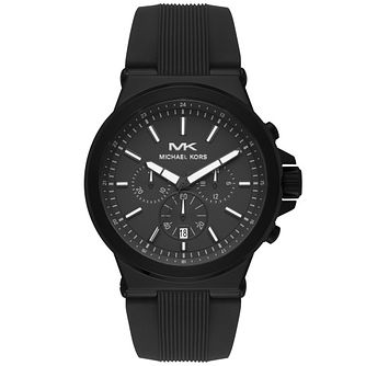 Michael Kors Dylan Men's Black Silicone Strap Watch - Product number 4752821