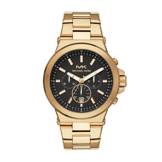 Michael Kors Dylan Men's Gold Plated Bracelet Watch - Product number 4752856