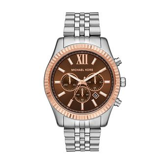 Michael Kors Men's Chronograph Rose Gold Tone Bracelet Watch - Product number 4752864