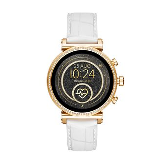 Michael Kors Sofie Gen 4 Ladies' White Silicone Strap Watch - Product number 4752872