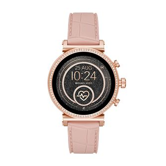 Michael Kors Sofie Gen 4 Ladies' Pink Silicone Strap Watch - Product number 4752899