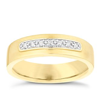 9ct Yellow Gold Men's Diamond Perfect Fit Wedding Ring - Product number 4754174