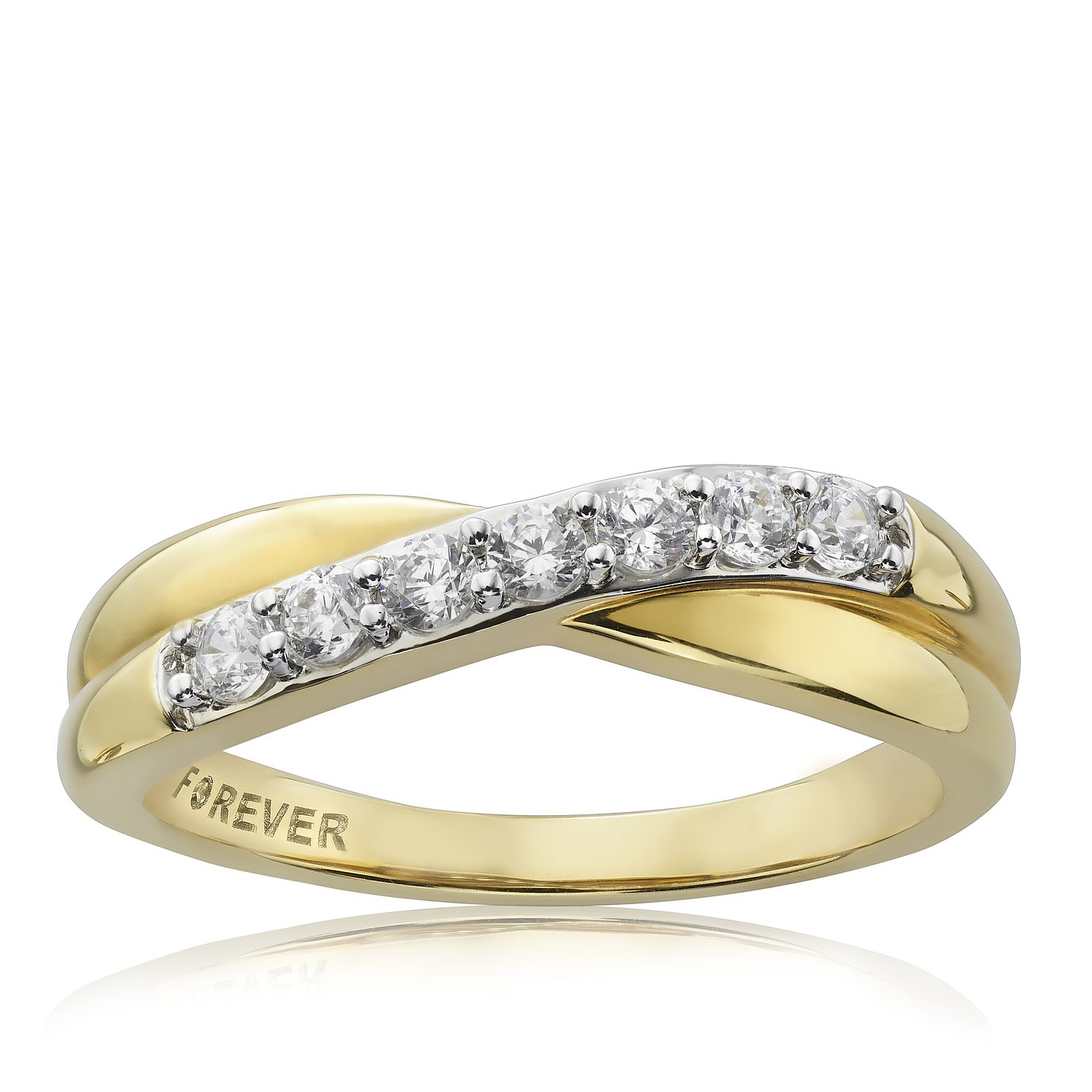 The Forever Diamond 18ct Gold 0.28ct Ring - Product number 4754611