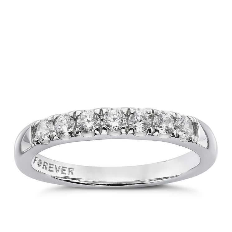 Platinum 1 3 Carat Forever Diamond Eternity Ring