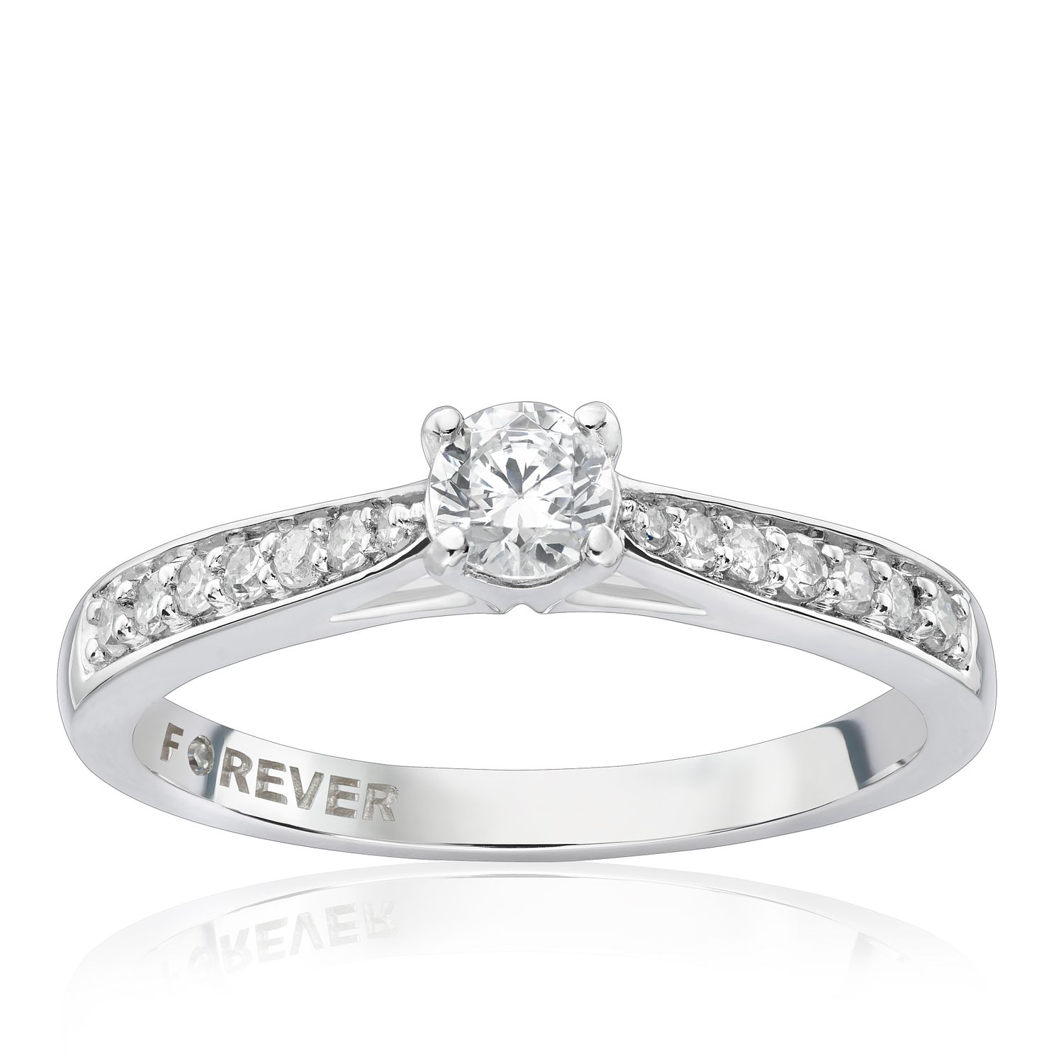 Platinum 1/3 Carat Forever Diamond Ring - Product number 4755707