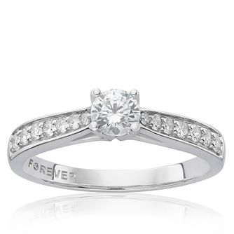 The Forever Diamond Platinum 0.50ct Total Ring - Product number 4756150