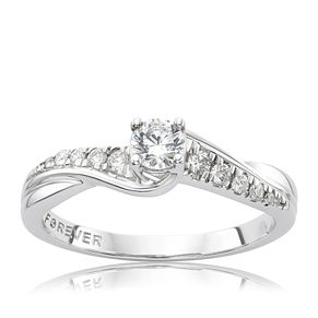 Platinum 1/3 Carat Forever Diamond Ring - Product number 4756606