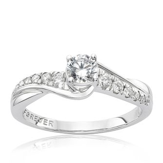 The Forever Diamond Platinum 0.50ct Total Ring - Product number 4756932