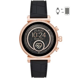 Michael Kors Sofie HR Gen 4 Black Silicone Strap SmartWatch - Product number 4762096