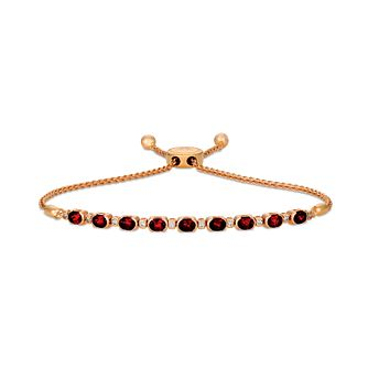 Le Vian 14ct Strawberry Gold Rhodolite & Diamond Bracelet - Product number 4763556