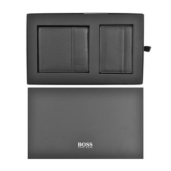 BOSS Black Leather Wallet & Cardholder Gift Set - Product number 4764099