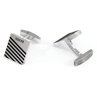 BOSS Jango Men's Silver Tone Cufflinks - Product number 4764145