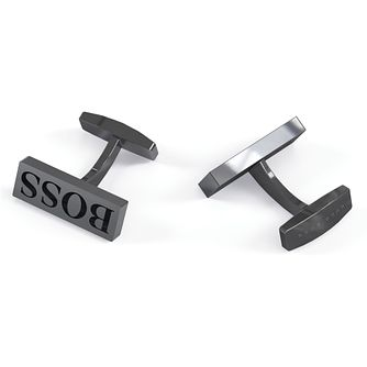 BOSS Gyler Men's Dark Grey Cufflinks - Product number 4764331