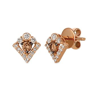 Le Vian 14ct Strawberry Gold 0.45ct Diamond Stud Earrings - Product number 4766652