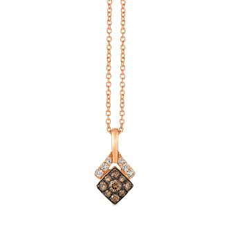 Le Vian 14ct Strawberry Gold 0.29ct Diamond Pendant - Product number 4766717