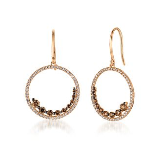 Le Vian 14ct Strawberry Gold 1.18ct Diamond Drop Earrings - Product number 4767543
